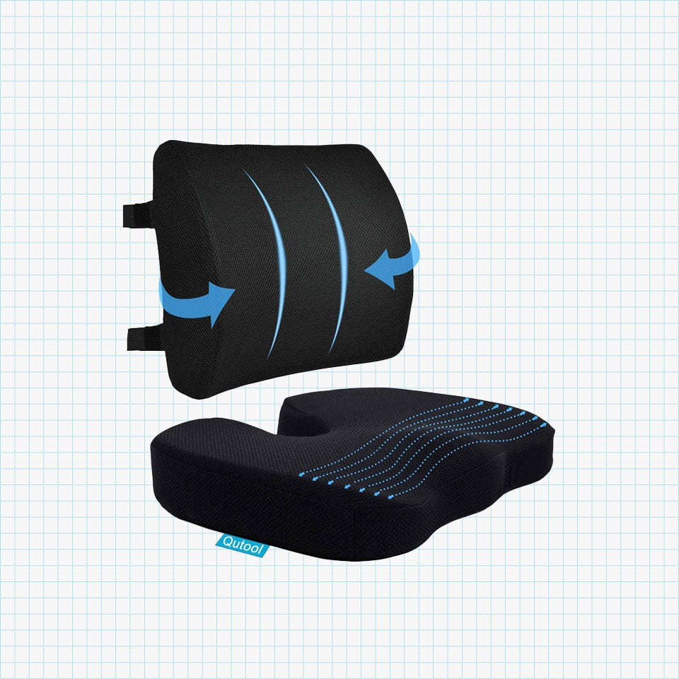 Coccyx Seat Cushion & Lumbar Support Pillow