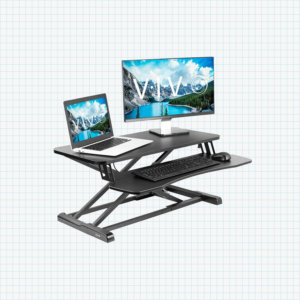 Vivo Height Adjustable Standing Desk Converter