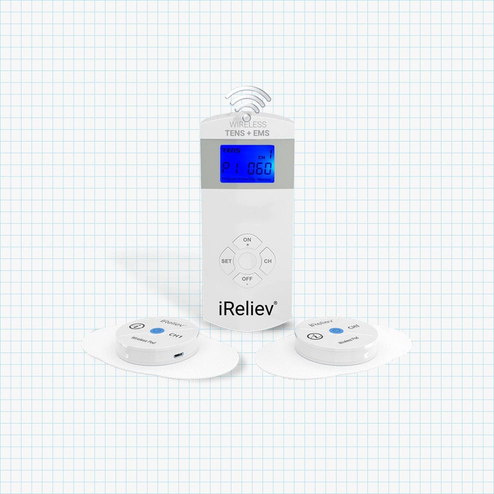 iReliev Wireless TENS + EMS Therapeutic Wearable System
