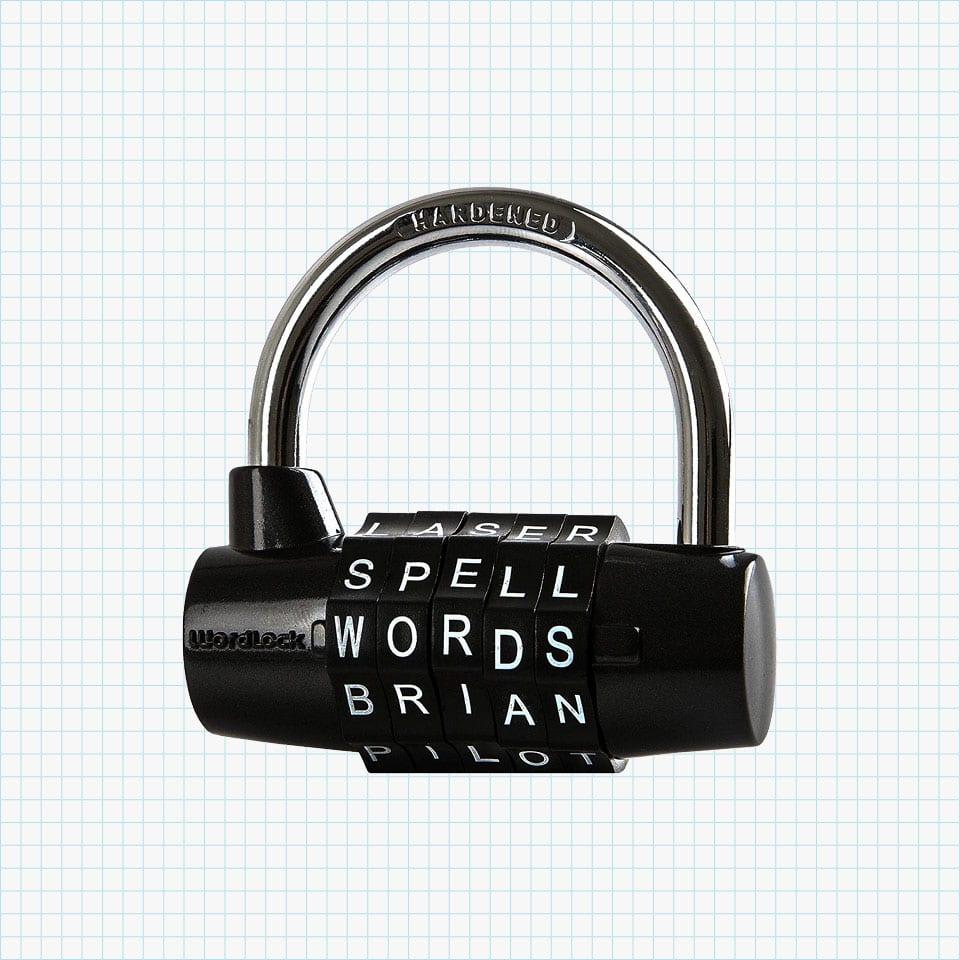 Wordlock 5-Dial Combination Padlock