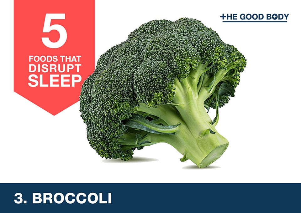 Avoid broccoli to help you sleep