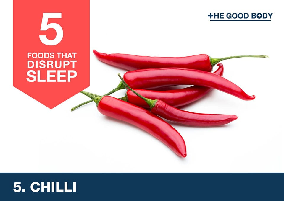 Avoid chilli to help you sleep
