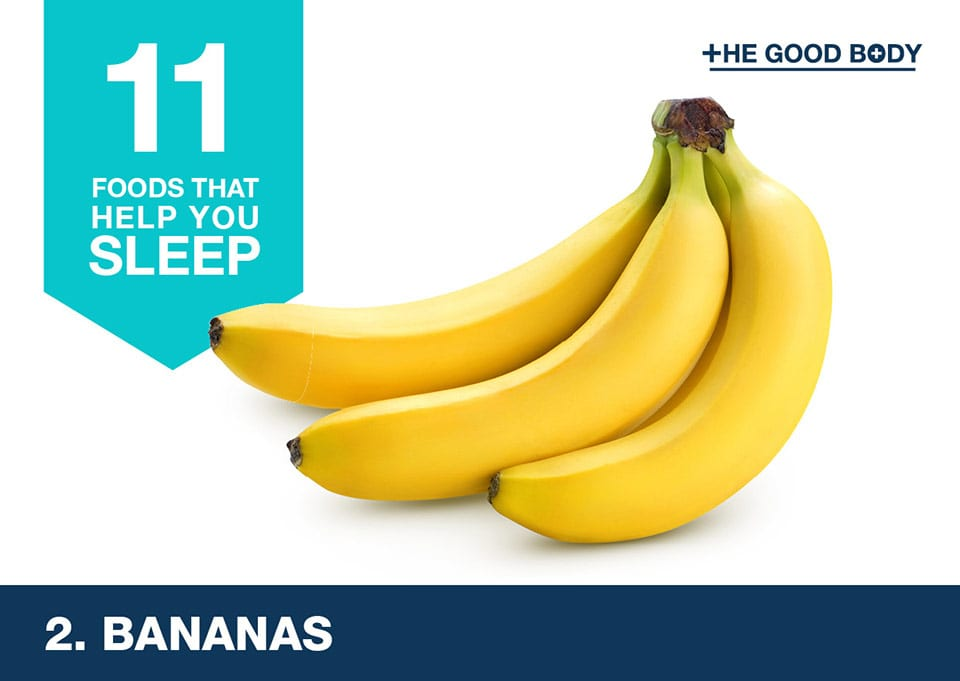 Eat bananas to help you sleep