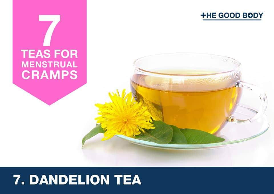 Dandelion Tea for menstrual cramps