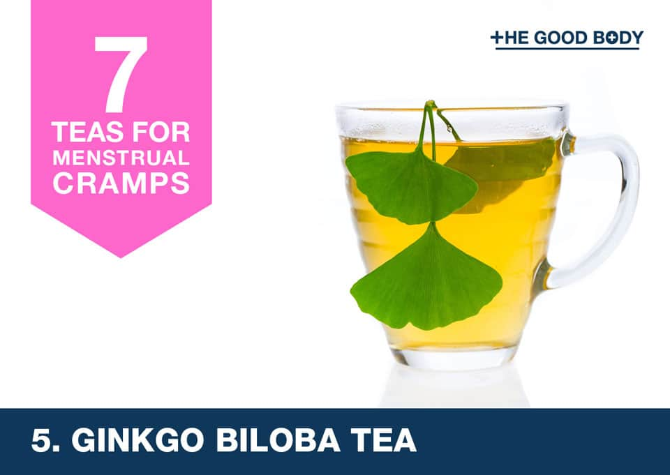 Ginkgo Biloba Leaf Tea for menstrual cramps