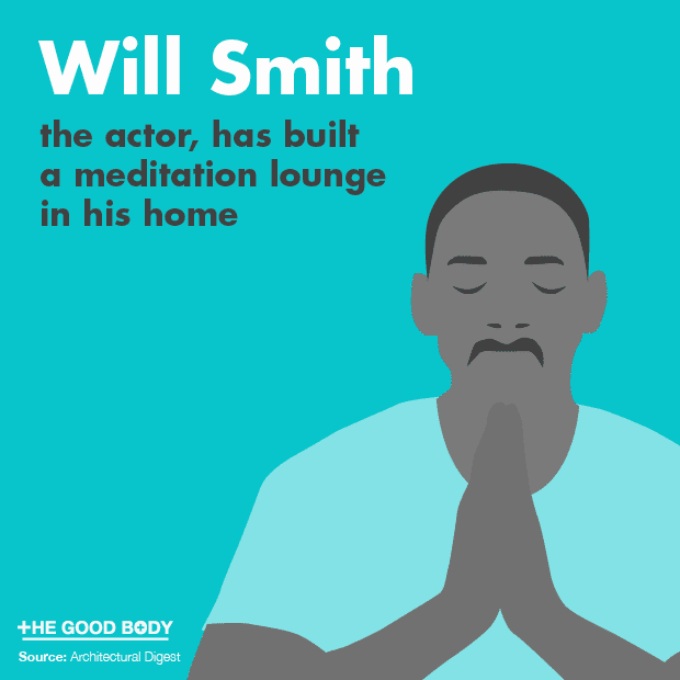 Actor Will Smith has built a meditation lounge in his home