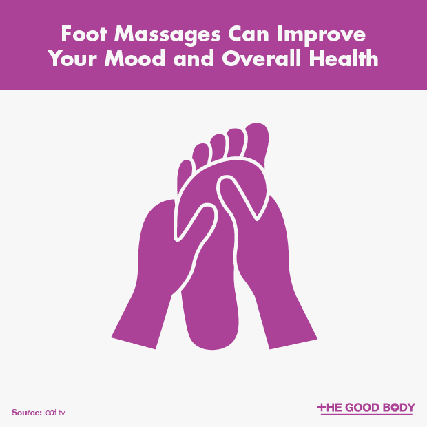 Foot massages can improve your mood and overall health