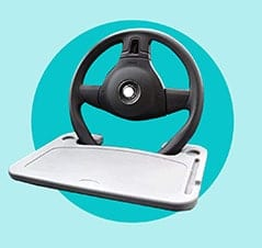 The Best Gift for Drivers: Cutequeen Eating/Laptop Steering Wheel Desk