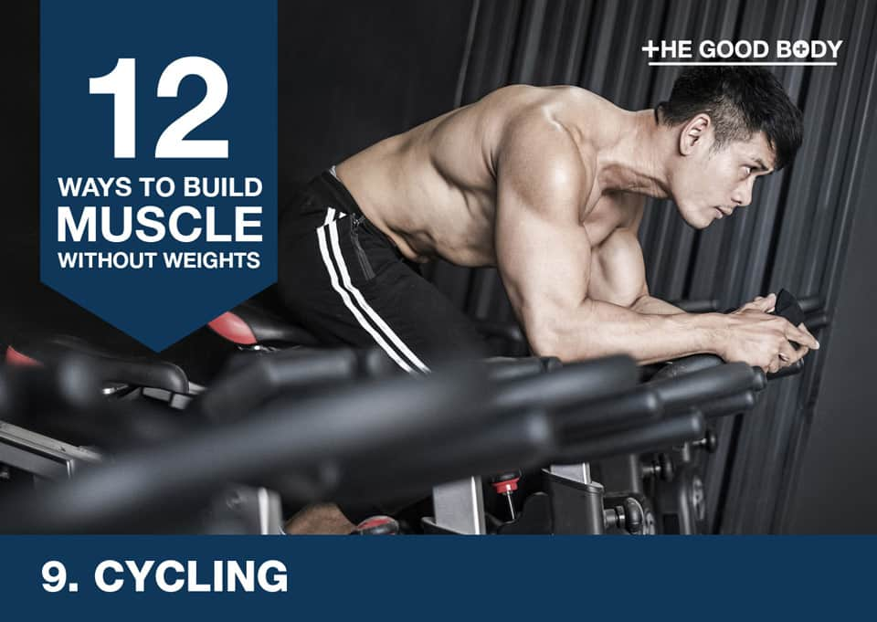 Cycling to build muscle without lifting weights