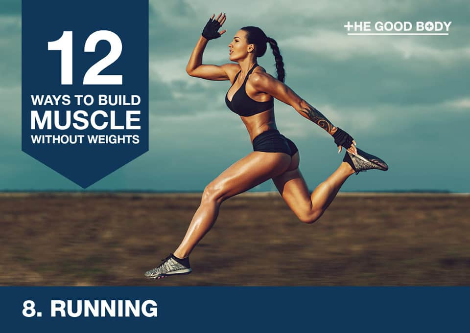 Running to build muscle without lifting weights