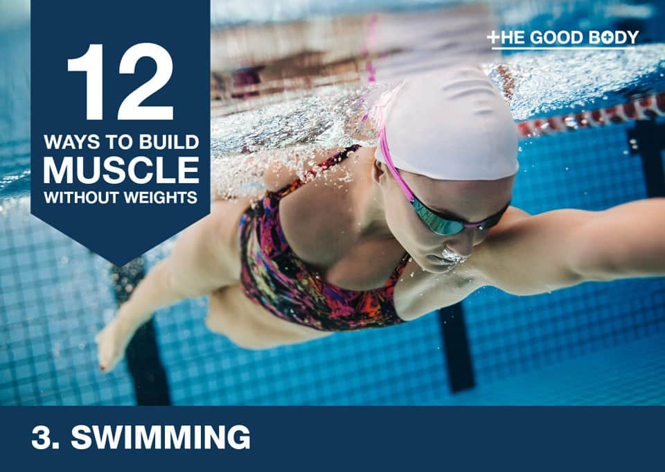Swimming to build muscle without lifting weights