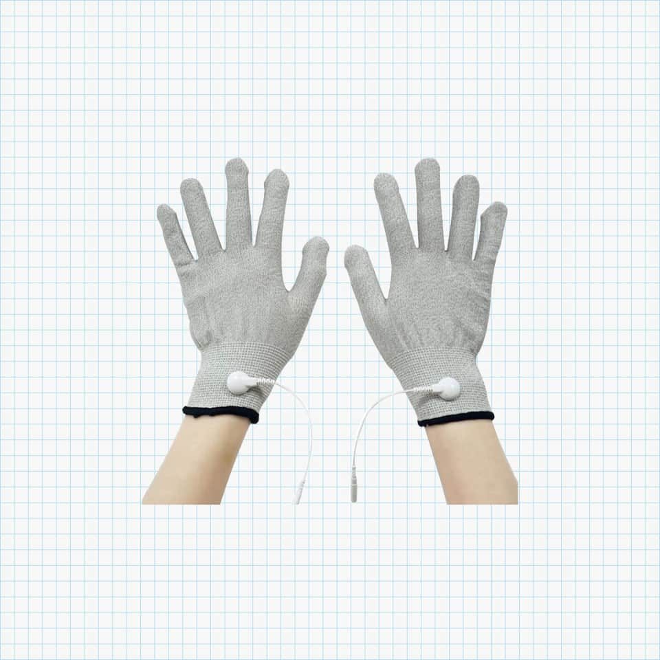 Konmed Silver Conductive Massage Gloves