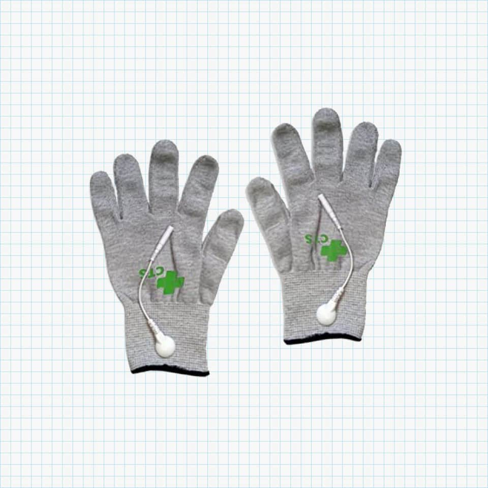 Silver Conductive Gloves from the Conductive Therapy Shop