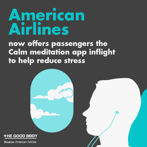 American Airlines now offers passengers the Calm meditation app inflight to help reduce stress