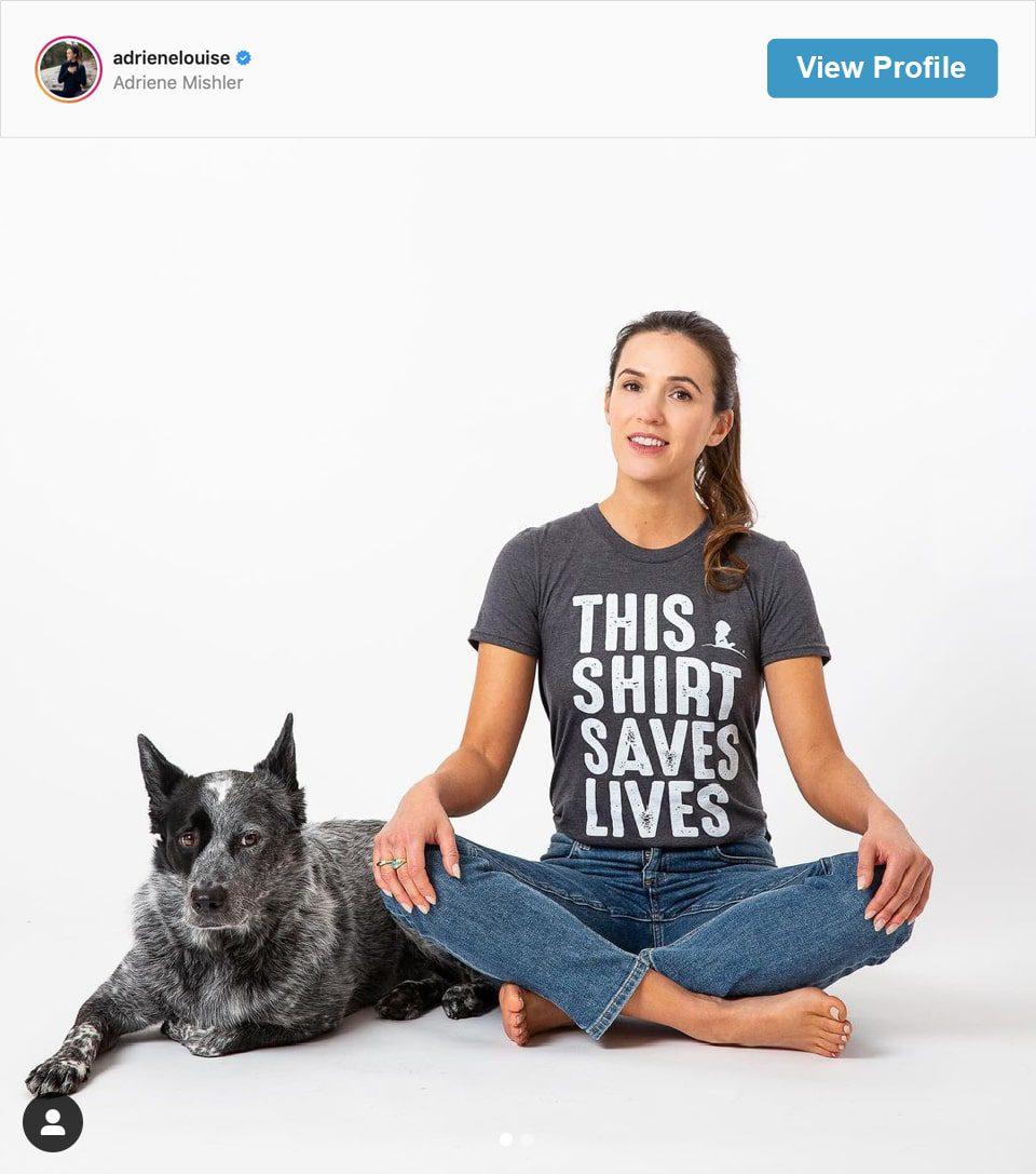 Follow Adriene Mishler's Instagram account