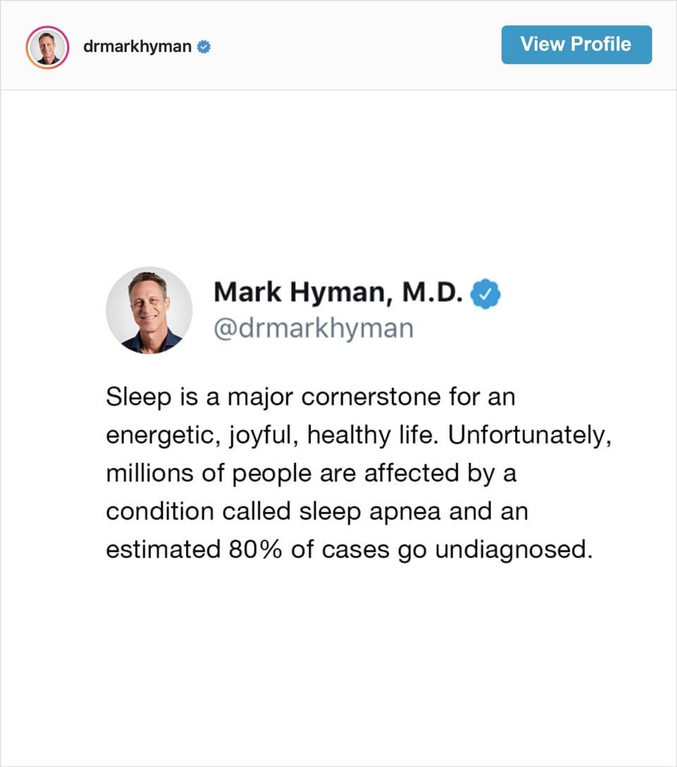 Follow Dr Mark Hyman's Instagram account