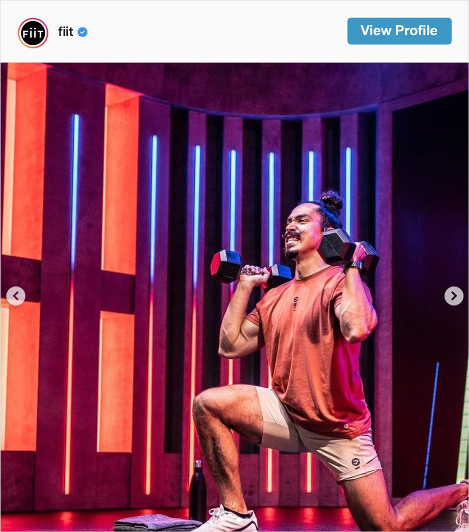 Follow FiiT's Instagram account