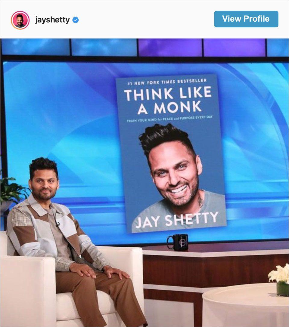 Follow Jay Shetty's Instagram account