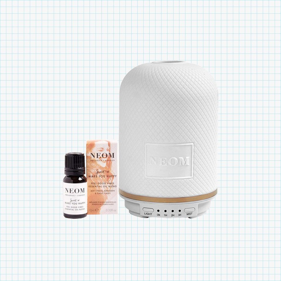 NEOM – Wellbeing Pod Essential Oil Diffuser & Feel Good Vibes Oil Scent
