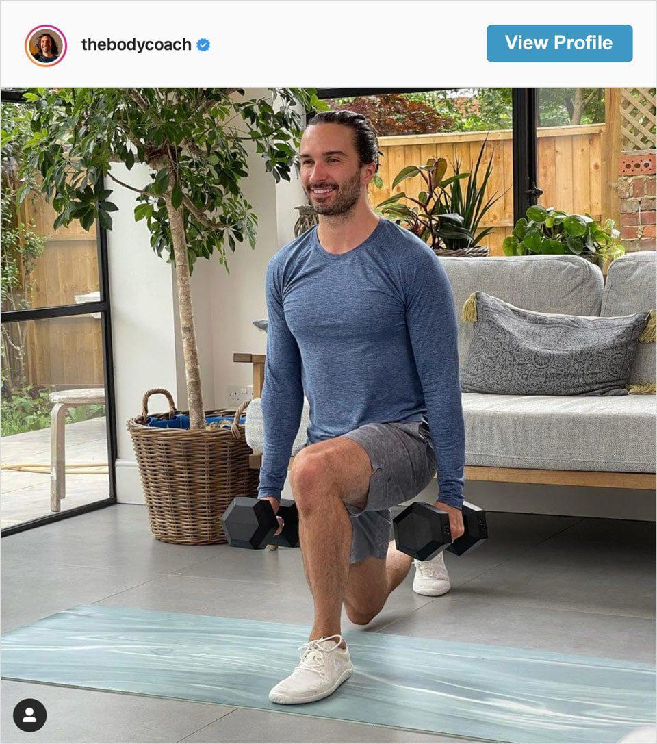 Follow The Body Coach's Instagram account