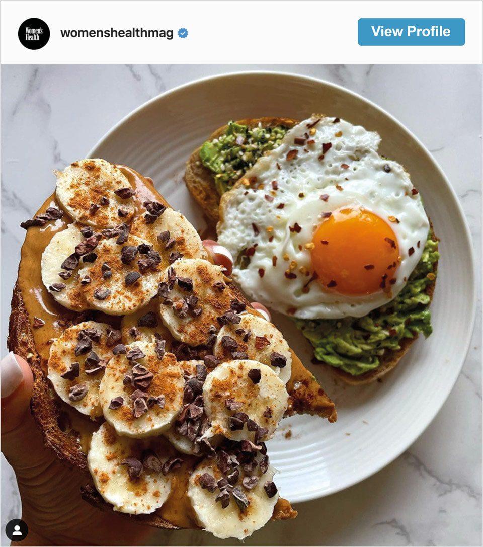 Follow Women's Health Mag's Instagram account