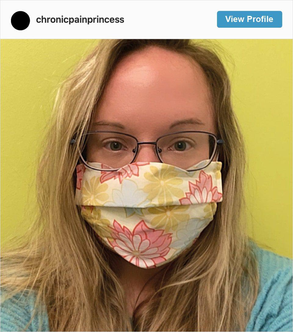 Follow Chronic Pain Princess' Instagram Account