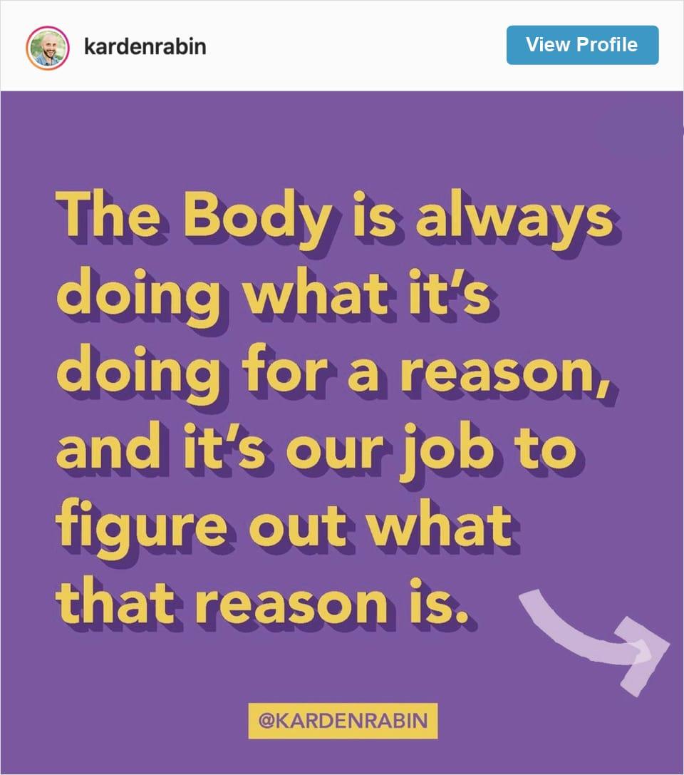 Follow Karden Rabin's Instagram Account