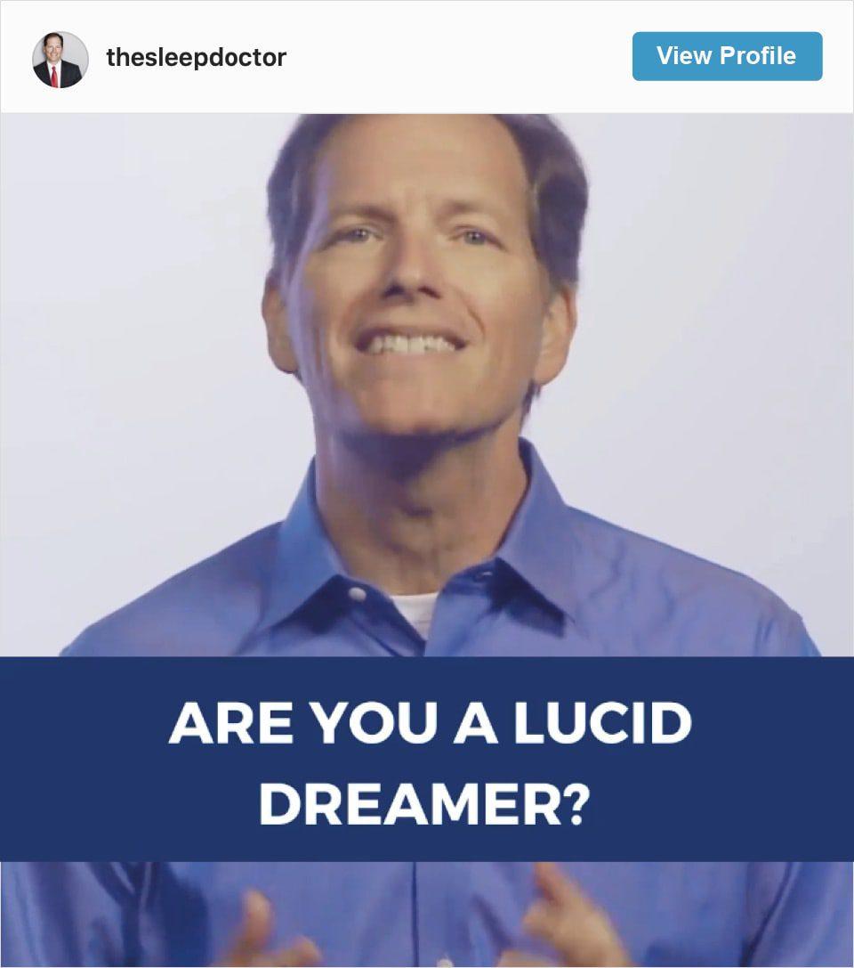 Follow Michael Breus' Instagram account
