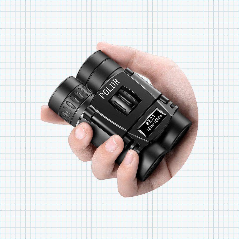 POLDR 8x21 Small Compact Lightweight Binoculars