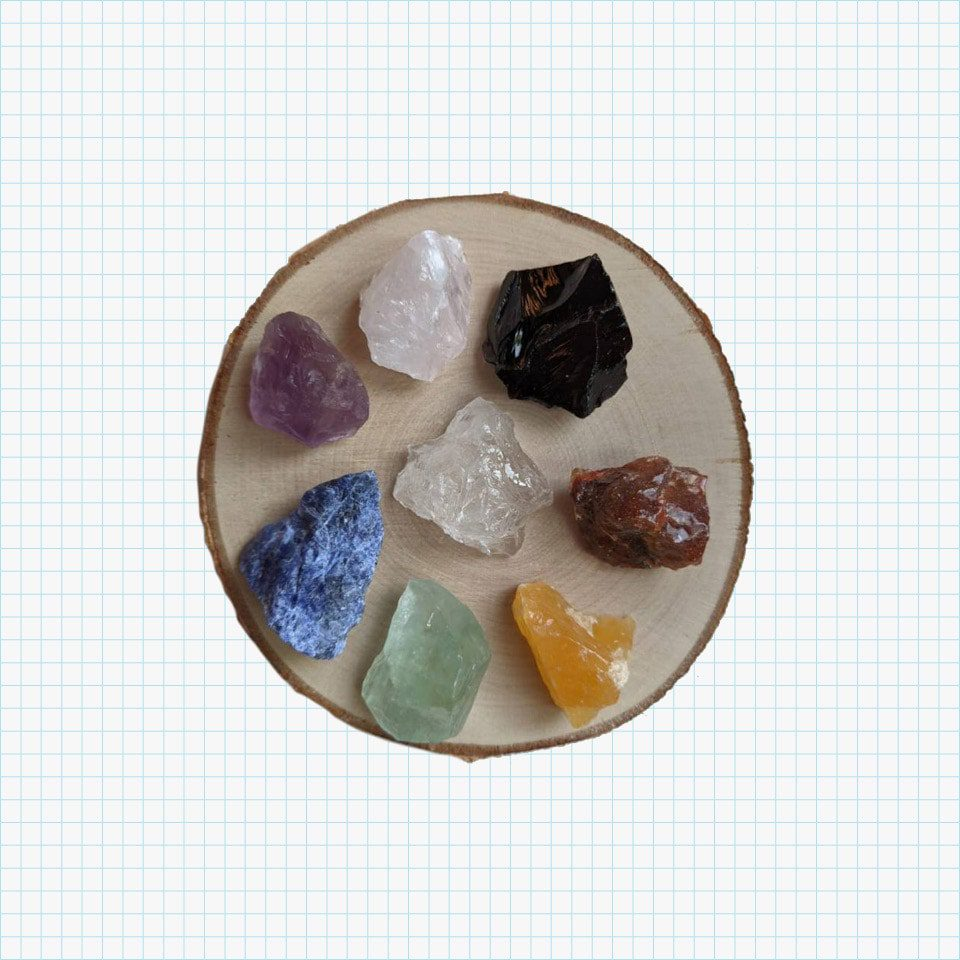 Raw Crystals Set of 8 from Stone Space Gems