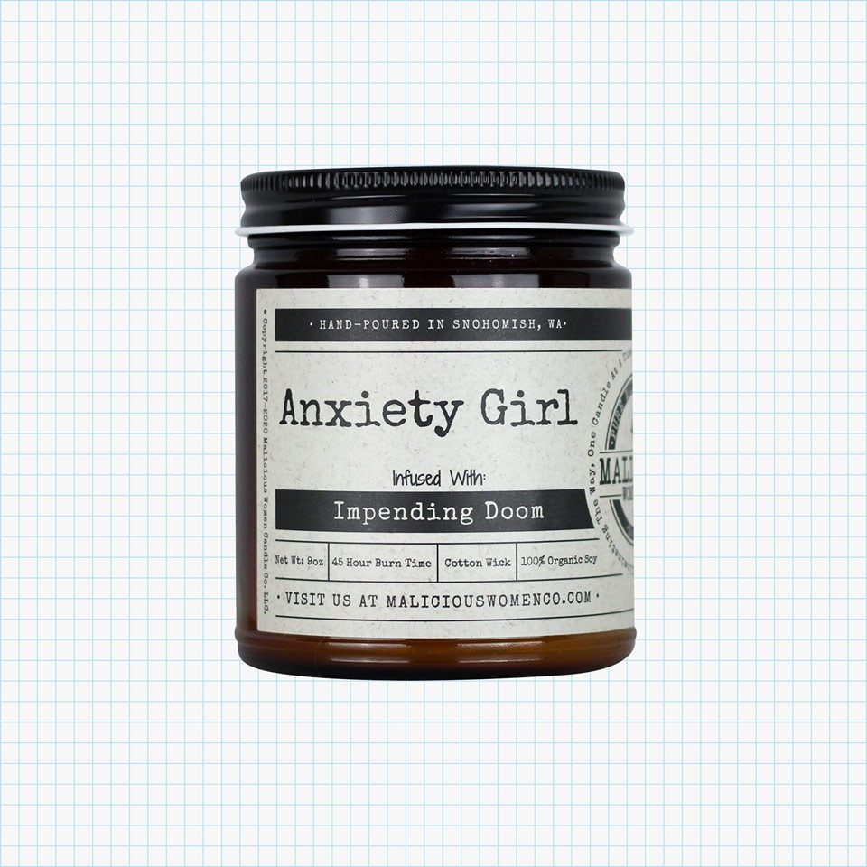 Anxiety Girl, Lavender & Coconut Water Infused with Impending Doom