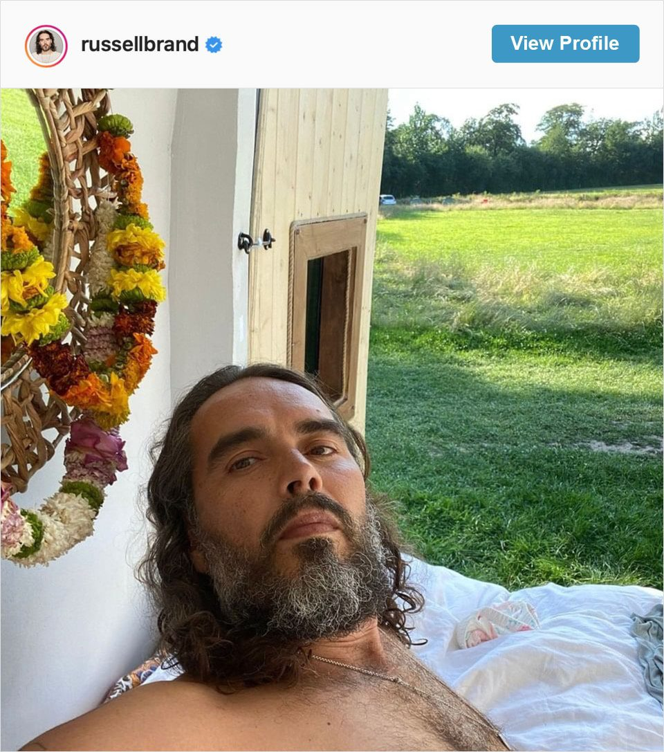 Follow Russell Brand's Instagram account