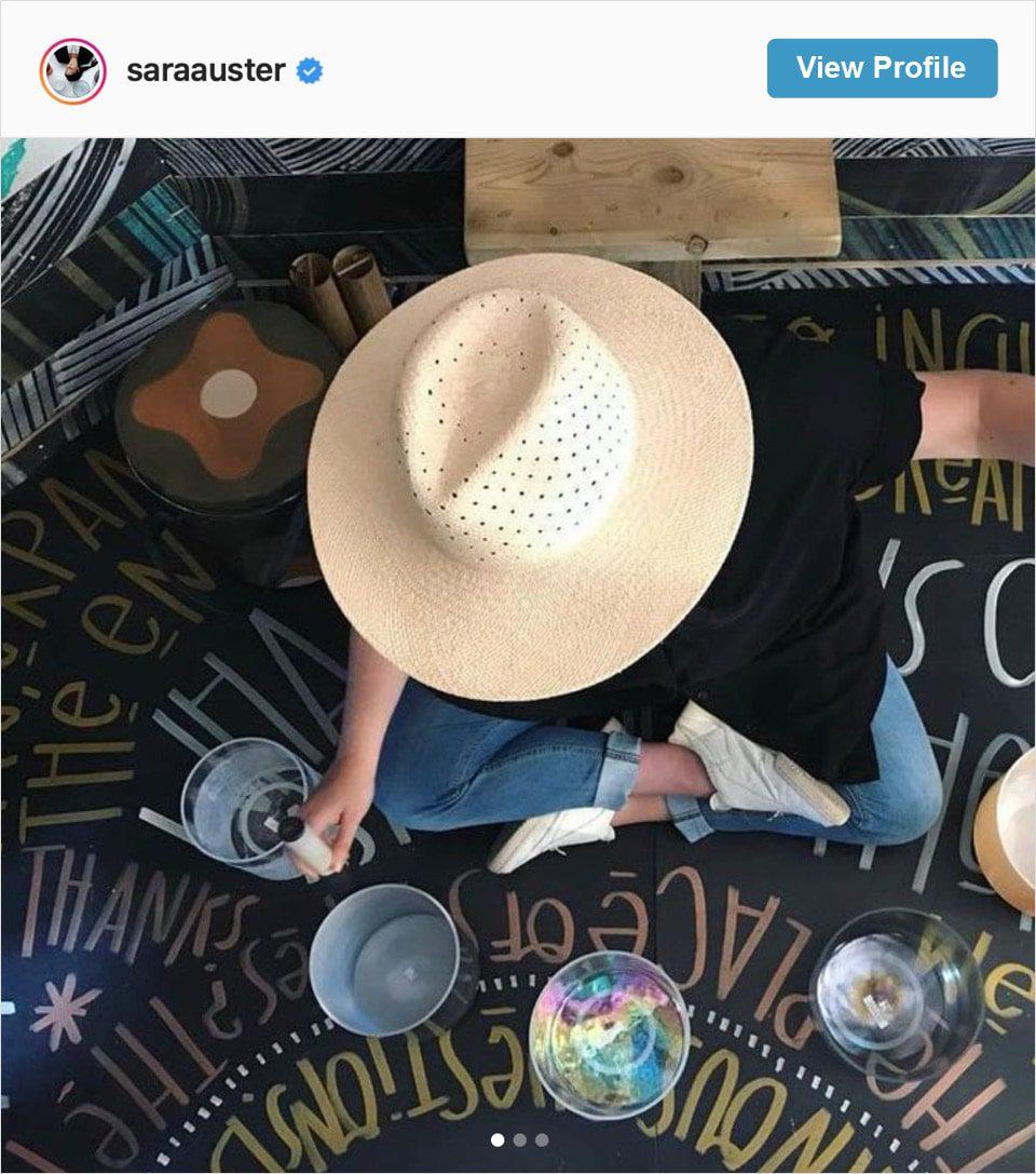 Follow Sara Auster's Instagram account