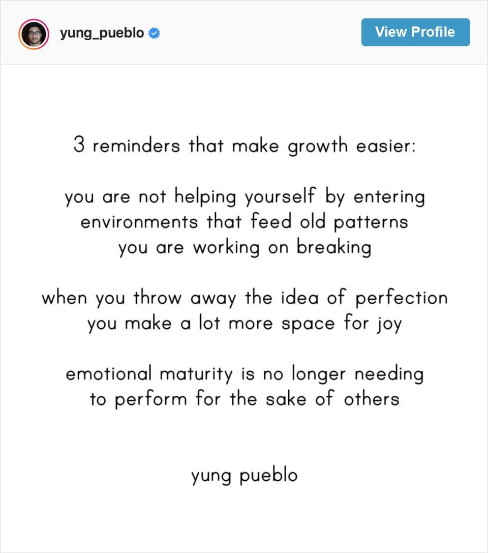 Follow Yung Pueblo's Instagram account